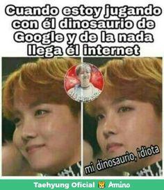 """Cuando no quiero que llegue el internet llega a cagar me la partida, y cuando no llega, no me resigno a jugar con el dinosaurio >:""""v"""
