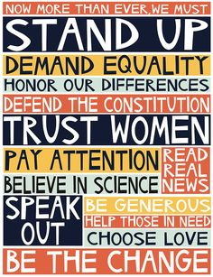 Important daily reminders. by Jennifer Judd-McGee 2017 manifesto archival print by swallowfield on Etsy  #womensmarch #prochoice #trustwomen