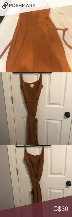 Never worn Frank and Oak wrap dress Light brown wrap dress size medium. Fits best a size 6 to Frank and Oak original design from Montreal. Never worn! Fast Fashion, Plus Fashion, Fashion Tips, Fashion Trends, Montreal, Thrifting, Wrap Dress, Medium, Brown