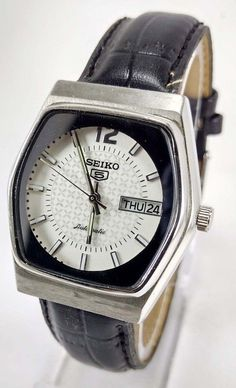 VINTAGE SEIKO 5 AUTOMATIC 17j MOVEMENT NO.6309A JAPAN MADE 35MM MEN'S WATCH.. #SEIKO5