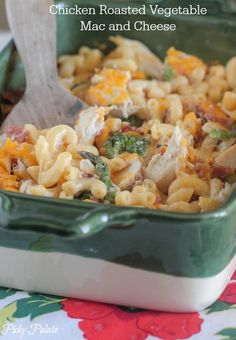 Chicken Roasted Vegetable Mac and Cheese #macandcheese #dinner #chicken