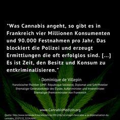 Der ehemalige Premierminister von Frankreich, Dominique de Villepin, über das Thema Cannabis in Frankreich: