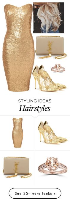 """""""Untitled #902"""" by maria-canas on Polyvore featuring Yves Saint Laurent, Jane Norman and Oscar de la Renta"""