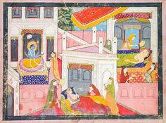 Birth of Krishna (yet another refugee). Pahari, 1840. Cleveland M. A. @Chemburstudio @DalrympleWill @ambrin_hayat