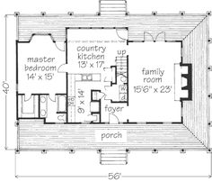 The floor plan creole cottage cottage floor plans and house for Creole cottage floor plan