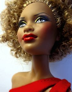 Barbie Basic Red - Afro Features by Blythemaniaco, via Flickr