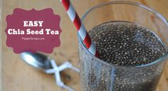 Easy Chia Seed Tea Recipe | subscribe http://youtube.com/PepperScraps