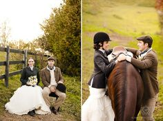 Do you have plans to include your horse on your wedding day? Check out this gorgeous English-inspired shoot!