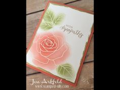 Manic Monday - Quick and Easy Card Making - Embossed Rose Wonder sympathy card. Stampin Up!