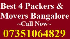 Packers Movers Basaveshwara Nagar | Bangalore Blog