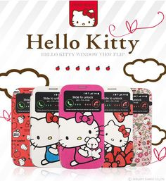 Personalize and protect your Galaxy Note 3 with this brand new Hello Kitty case!Hello Kitty Window View Cute Flip Coverdisplays vital information from your home screen through the little window on your case.