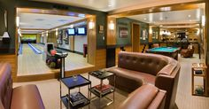 Game Room with bowling alley and pool table