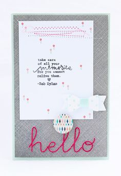 mojosanti : Bob Dylan and two happy cards with February Kits I Gossamer Blue