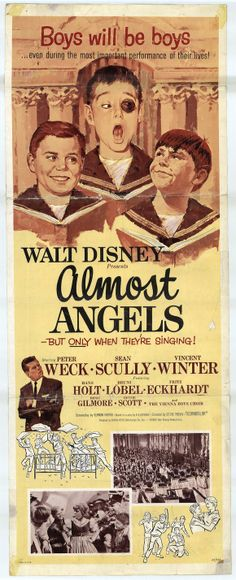 Almost Angels disney movie poster