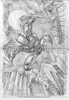Batman by Ivan Reis Batman Poster, Batman Comic Art, Im Batman, Batman Comics, Comic Book Pages, Comic Book Artists, Comic Artist, Comic Books Art, Batman Painting