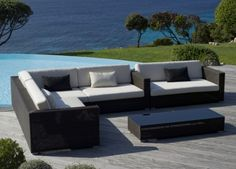 Use our stylish garden furniture ideas and advice to extend your living space outdoors and create some garden glamour perfect for entertaining guests. Garden Sofa, Outdoor Garden Furniture, Garden Seating, Garden Table, Garden Chairs, Outdoor Decor, Contemporary Garden Furniture, Belmont, Garden Parasols