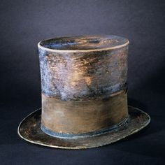 Abraham Lincoln's top hat now on display at the Museum of American History ~ Photo courtesy of the Smithsonian Institution