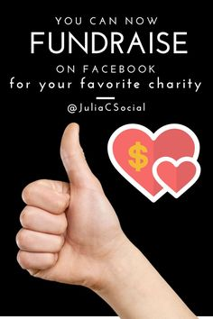 You can now fundraise on Facebook for your favorite charity - @juliagulia77