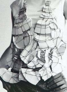 Maison Martin Margiela vest  Raf Simons T-shirt photographed by Willy Vanderperre for i-D February 2001.