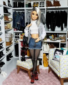 Barbie Hair, Doll Clothes Barbie, Vintage Barbie Dolls, Barbies Dolls, Barbie Tumblr, Barbie Fashionista Dolls, Barbie Diorama, Barbie Model, Beautiful Barbie Dolls