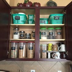 Ideas to organize your kitchen cabinet all from the Dollar Tree store. Made by…