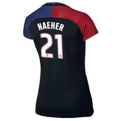 2016 Away Alyssa Naeher Jersey USA Women's Soccer #21 - Black
