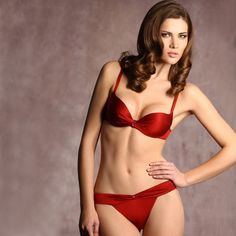 Fire up in this Red Fine Demi Bra and Thong by Jolidon, featuring Swarovski crystal accents to the bustline along with a sexy band-embellished thong. Lingerie Photos, Red Lingerie, Luxury Lingerie, Women Lingerie, Fashion Lingerie, Satin Bra, Red Satin, Seductive Women, Sexy Lingerie