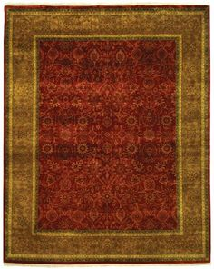 Rug from Ganges River collection. In Safavieh's Ganges River rugs, time-honored hand-weaving techniques and authentic Persian designs are updated in color and pattern for century Green Wool, Red Green, 21st Century Homes, Oriental Pattern, Rectangular Rugs, Weaving Techniques, Online Home Decor Stores, Persian Rug, Runes