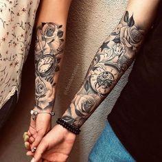 Forarm Tattoos, Tatuajes Tattoos, Dope Tattoos, Badass Tattoos, Hand Tattoos, Tatoos, Tattoos Skull, Thigh Tattoos, Unique Half Sleeve Tattoos