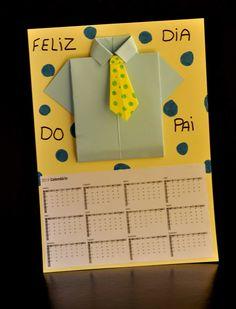 Calendário em EVA Mais Diy For Kids, Crafts For Kids, Diy And Crafts, Arts And Crafts, Mother And Father, Mom And Dad, Fathers Day Gifts, Dads, Gift Wrapping