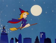 Modern witch, Samantha Stevens, in the 1960's TV series, BEWITCHED