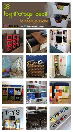 Toys on the floor driving you nuts? You need to see these toy storage ideas to keep your sanity! GENIUS!