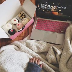 Binging on cupcakes and netflix.