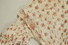 Dress ca. 1850s. Cotton.  American or European. The Met  Accession Number:  1992.31.1