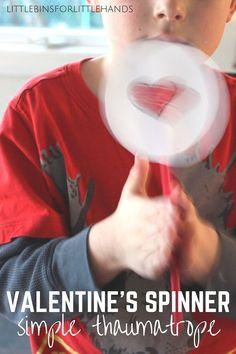 Valentines Spinner Toy Simple Thaumatrope STEAM Activity