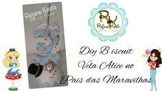 DIY Vela Alice no País das Maravilhas - Biscuit - Rejane Kesia