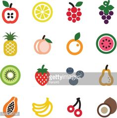 Vector Art : fruit icon set