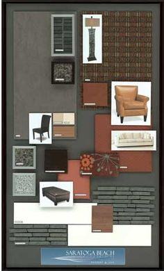 coastal style boutique hotel design board by ana damaris then in