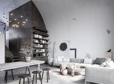Industrial-Rustic Vibes 😍 lgreat one #serhiiseinov 👏👏👏  #realestate #decoracao #homedesign #interiordesigner #livingroomdesign #architectureanddesign #elledecor #interiors #interiordecorating #diningroom #livingroominspo  #architecturelovers #architecturaldifest #interiorstyle #couch #designinspo #adstyle #industrialdesign #industrial #industrialdecor #industrialfurniture