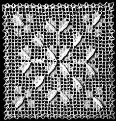 Capitol Hill Filet Crochet Bedspread Pattern - Vintage Crafts and More