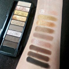 Swatches of the Wet n Wild Fergie palette in Milano Collections
