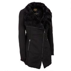 Jessica Simpson Asymmetrical Faux-Shearling Walker $100.00 …