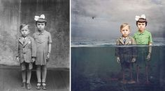 Artist Turns Historical Photos into Colorfully Whimsical Composites - My Modern Met