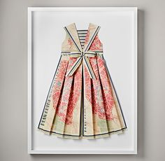 Dress made out of old maps for framing.