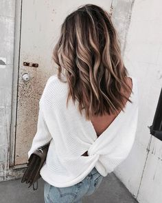 Instagram Lately | Cella Jane / hair goals / hair vibes / loose waves / open back sweater / fall feels