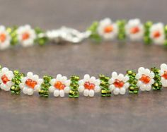 Popular items for beaded daisy chain on Etsy