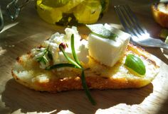 Marinated Cheese with Fresh Herbs in Olive Oil