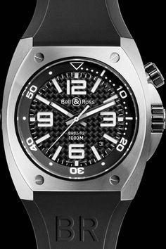 Bell & Ross BR02 Carbon Fibre watch.