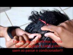 Colocação de cabelo orgânico (COLOCANDO MEGA HAIR SOZINHA 2) - YouTube