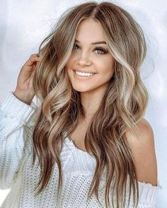 Long Wavy Ash-Brown Balayage - 20 Light Brown Hair Color Ideas for Your New Look - The Trending Hairstyle Hair Color Balayage, Hair Highlights, Ombre Hair, Darker Blonde Hair Color, Blonde Hair With Brown Roots, Blonde Balayage On Brown Hair, Balyage Long Hair, Black To Blonde Hair, Sandy Blonde Hair
